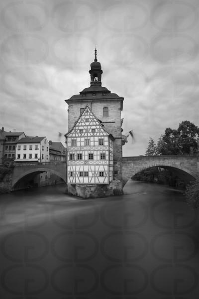 Altes Rathaus Portrait in Monochrome