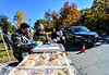 People across the Northeast travel to attend the 51st annual Dummerston Apple Pie Festival, in Dummerston, Vt., that was held as a drive-thru style event because of the COVID-19 pandemic on Sunday, Oct. 11, 2020. The Apple Pie Festival is an annual fundraising event for the Dummerston Congregational Church, UCC.