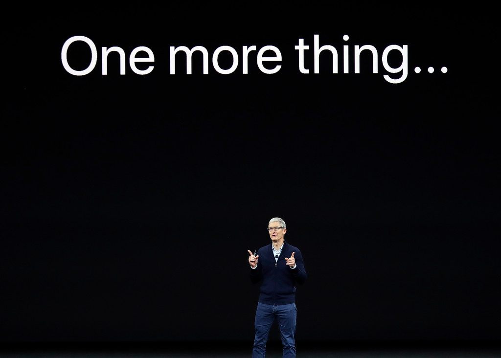 . Apple CEO Tim Cook, announces the new iPhone X at the Steve Jobs Theater on the new Apple campus on Tuesday, Sept. 12, 2017, in Cupertino, Calif. (AP Photo/Marcio Jose Sanchez)