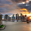 Sunset over Lower Manhattan, New York City