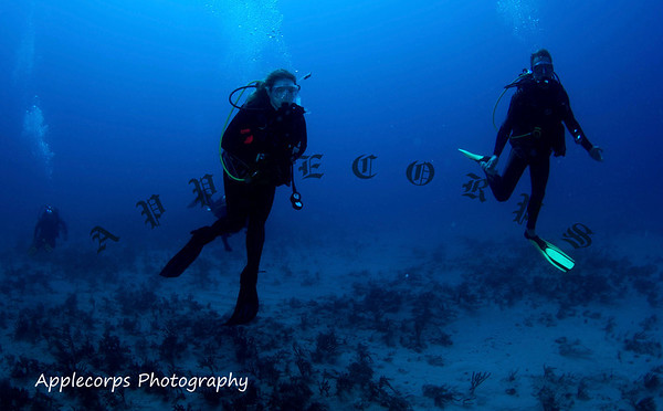 Leah enjoys one of her first dives as a certified PADI Open Water Diver!