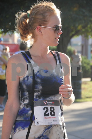 The annual  Applefest 5k/10k run took place at the town square in Fort Dodge on Sunday, September 27, 2015. Pictured is: Jamie Varankounh before  the event  started.