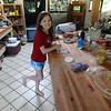 Kayle working on donuts...