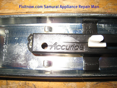 Closeup of upgraded slide snap-back mechanism housing