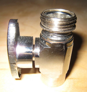 The Threaded Part of the Shutoff Valve