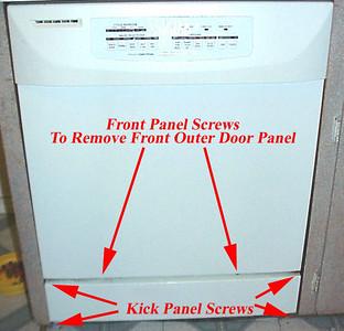 Kitchen Aid Dishwasher Kickplate Access