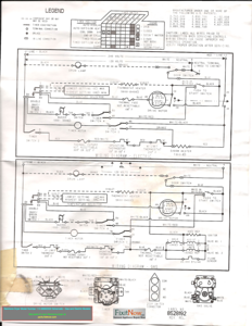 Kenmore Dryer Model Number 110.66662500 Schematic - Gas and Electric Models