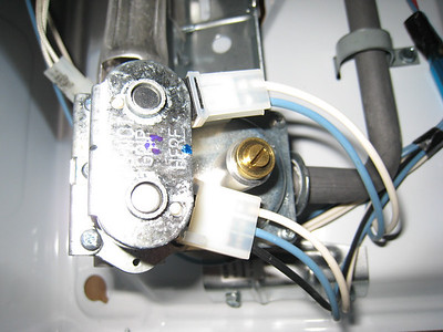 The Valve Coils on a Gas Valve in a Dryer