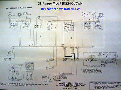 GE Range Model JBS26OV2WH Schematic