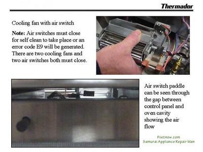 Thermador Oven E9 Error Code
