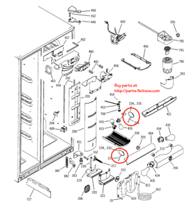 GE Profile and Arctica Refrigerator Thermistor Locations - Beer Compartment