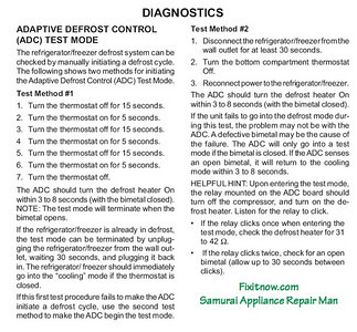 How to Test the Adaptive Defrost Control (ADC) Board Used in Maytag-built Refrigerators