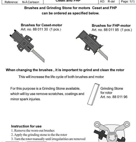 Asko Washer Motor Brushes