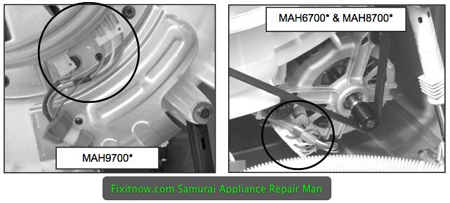 Hall Sensor in Maytag MAH6700, MAH8700, and MAH9700 washers