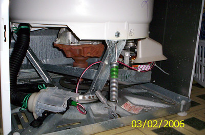 The Mechanical Guts in a Frigidaire Top-Loading Washer