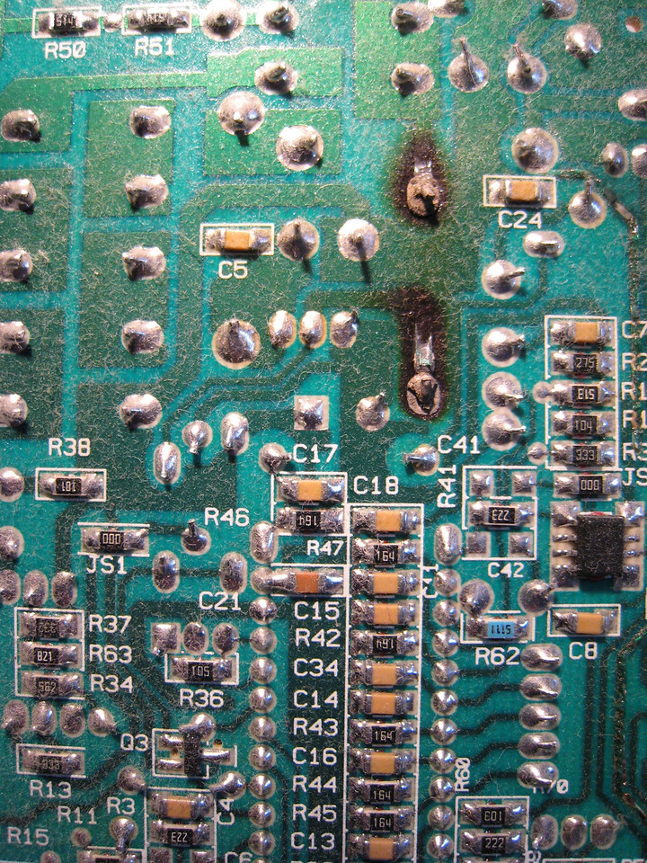 Burnt Solder Joints on an Even Heat Control Board