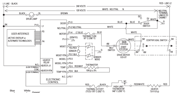 Whirlpool Duet Electric Dryer Schematic