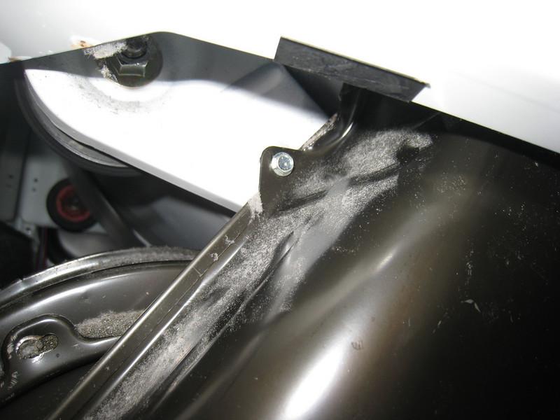 Blower Cover Retaining Screw, Left Side