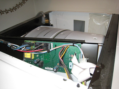 Top Removed and Control Panel Opened