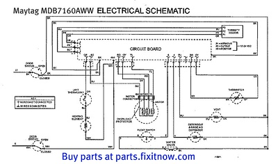 Maytag MDB7160AWW Dishwasher Schematic