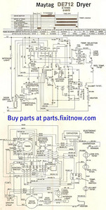 Maytag LDE712 Dryer Wiring Diagram and Schematic