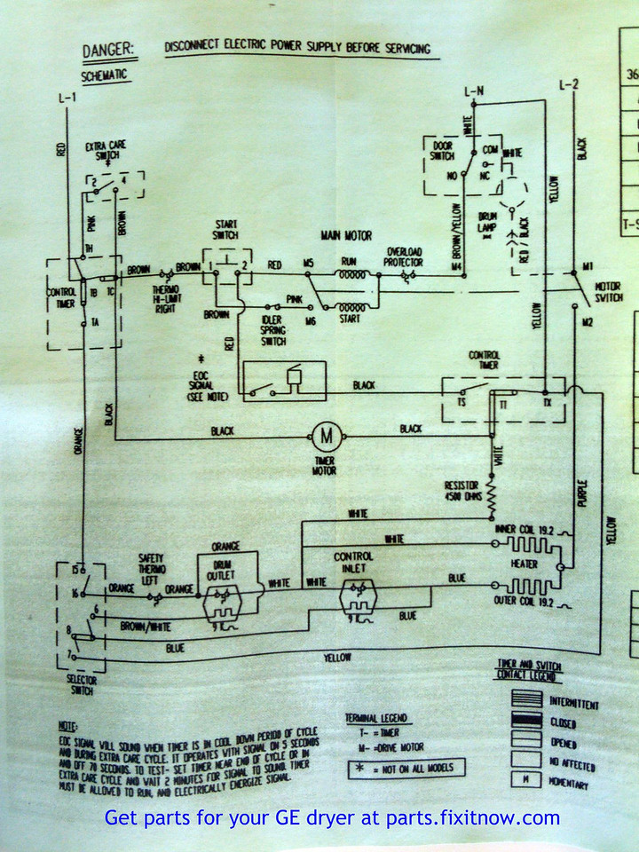 wiring diagrams and schematics appliantology rh appliantology smugmug com ge dryer wiring diagram ge dryer timer wiring diagram