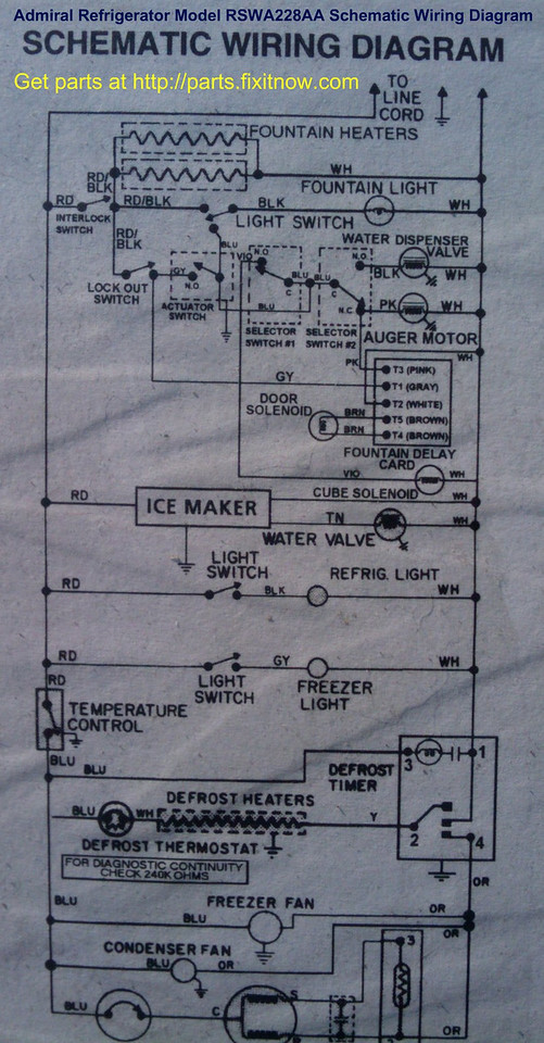 Wiring diagrams and schematics appliantology admiral refrigerator model rswa228aa schematic wiring diagram asfbconference2016 Choice Image