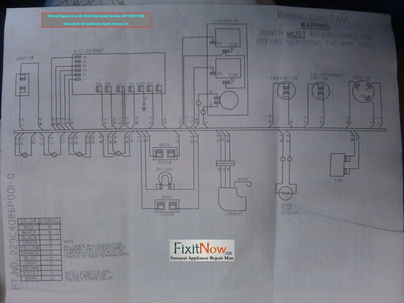 wiring diagrams and schematics appliantology Blue M Oven Wiring Diagram wiring diagram for a ge wall oven model number jkp13gov1bb