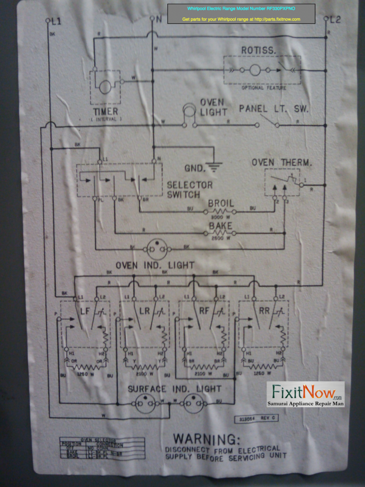 Wiring diagrams and schematics appliantology whirlpool electric range model number rf330pxpno wiring diagram asfbconference2016 Gallery