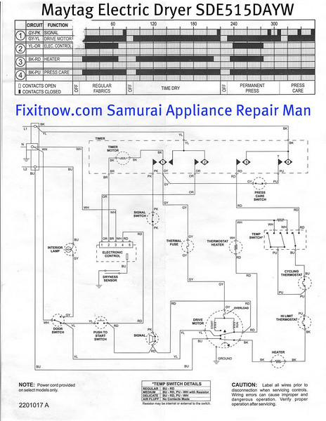 Wiring diagrams and schematics appliantology maytag electric dryer model sde515dayw schematic diagram asfbconference2016 Images