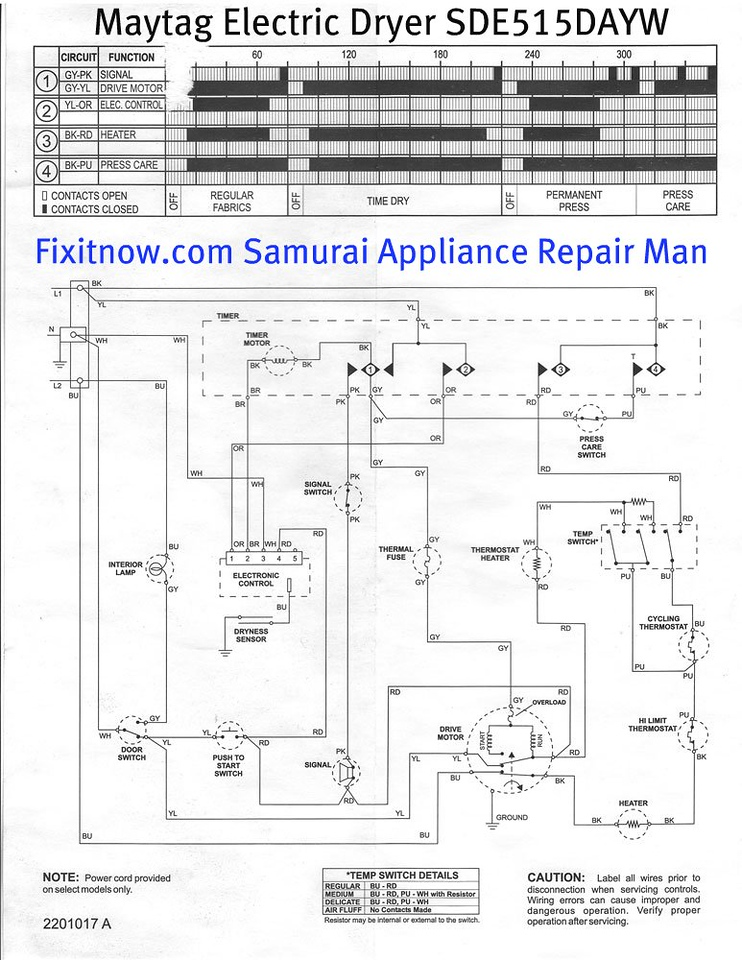 Wiring diagrams and schematics appliantology maytag electric dryer model sde515dayw schematic diagram asfbconference2016 Gallery
