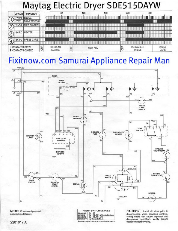 wiring diagrams and schematics appliantology tag electric dryer model sde515dayw schematic diagram