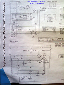 Frigidaire Stack Washer-Dryer Model FEX831CS0 Schematic
