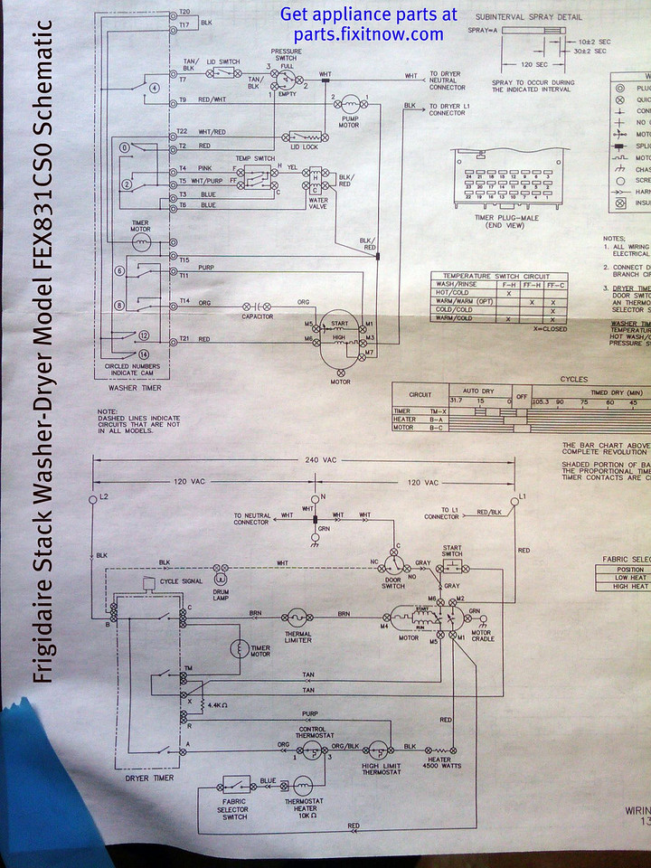 Wiring diagrams and schematics appliantology frigidaire stack washer dryer model fex831cs0 schematic asfbconference2016 Gallery