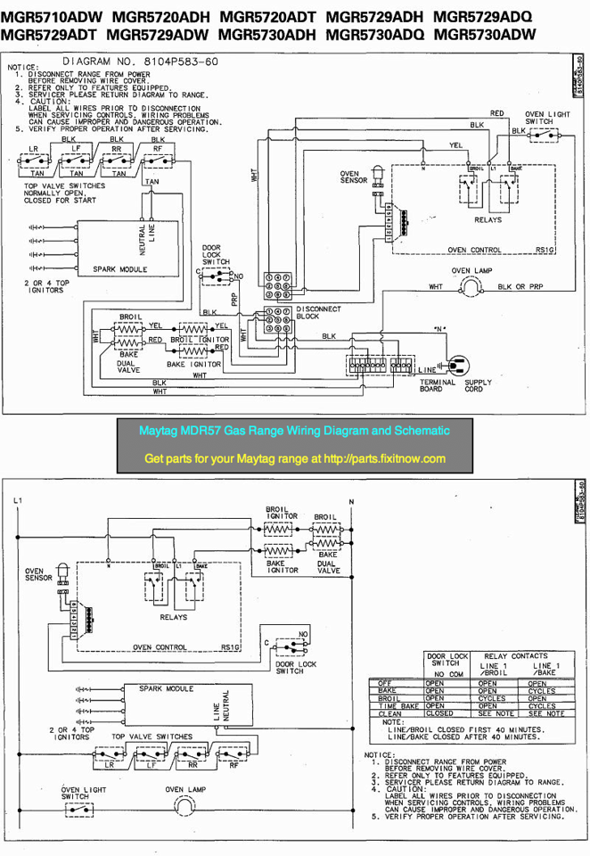 wiring diagrams and schematics appliantology amana refrigerator wiring diagram maytag mgr57 gas range wiring diagram and schematic