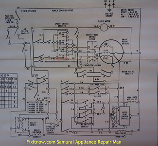 wiring diagrams and schematics appliantology Whirlpool Washer Parts Diagram whirlpool kenmore direct drive washer with double pressure switches and drain valve coil wiring