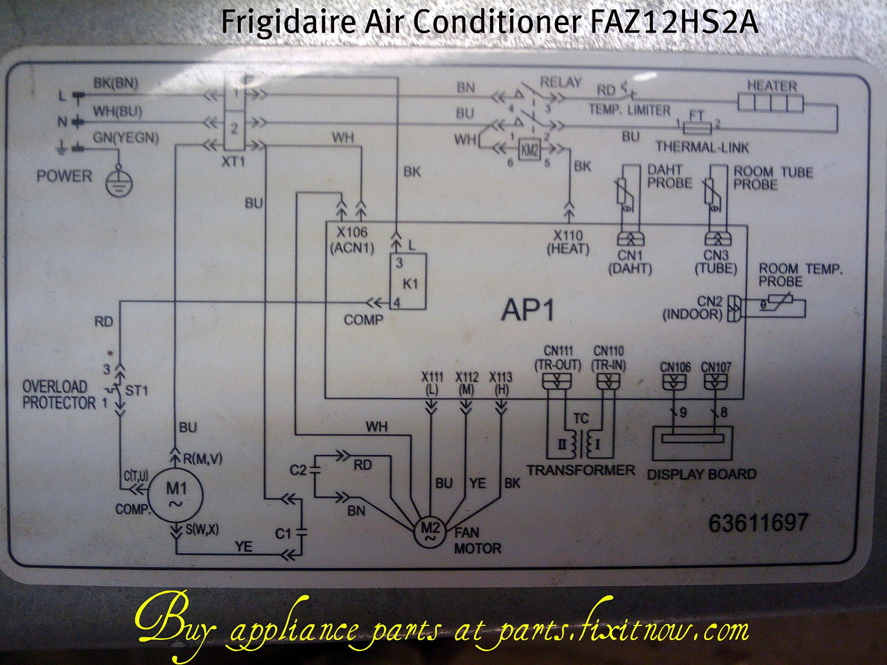 Wiring diagrams and schematics appliantology frigidaire air conditioner faz12hs2a eng 13 schematic asfbconference2016 Choice Image