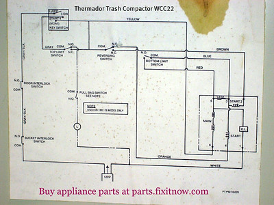 appliantology photo keywords diagram thermador trash compactor wcc22 schematic diagram