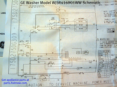 GE Washer Model WJSR4160G1WW Schematic