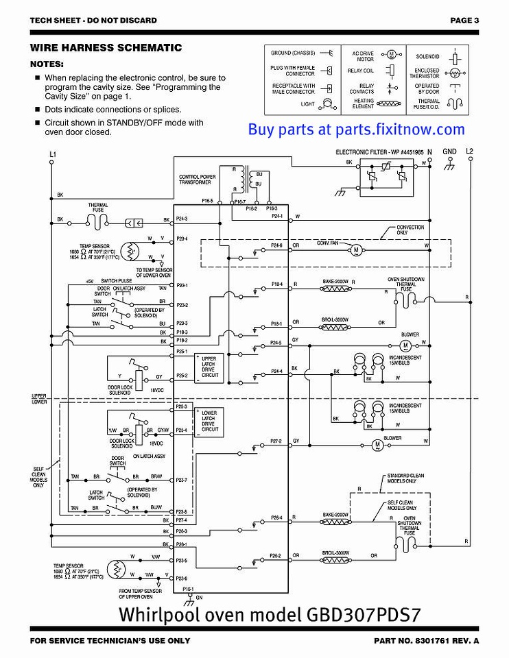 wiring diagrams and schematics appliantology whirlpool oven model gbd307pds7 schematic