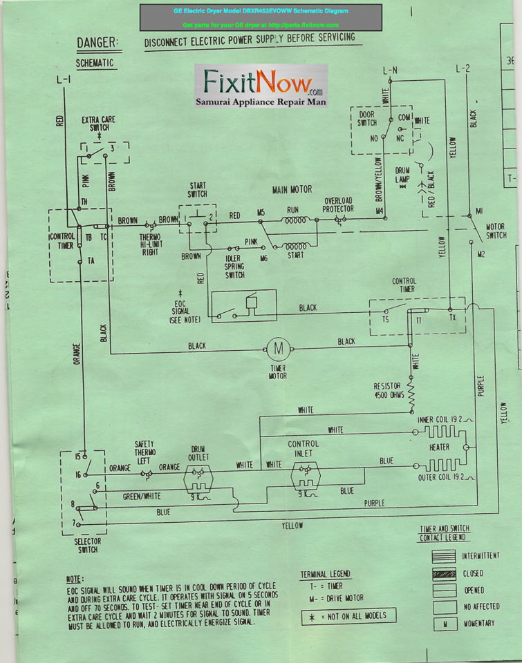 Wiring diagrams and schematics appliantology ge electric dryer model dbxr453evoww schematic diagram asfbconference2016 Gallery
