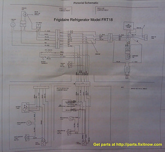 wiring diagrams and schematics appliantology frigidaire refrigerator model frt18 wiring diagram and schematic