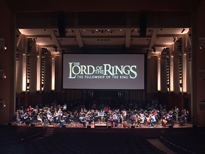 Lord of the Rings Symphony Rehersal