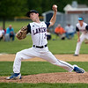 Mitch Bumpus pitched a complete game and got the win for the Lakers.