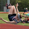 Apponequet's Dayna Doyle won the girrls high jump with this 5' jump.