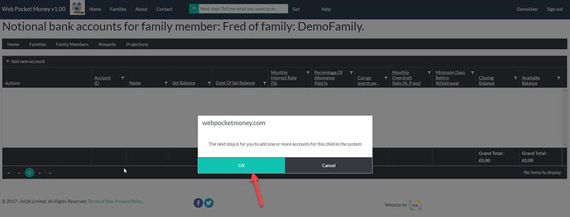 WebPocketMoney Family Members Next Step 2
