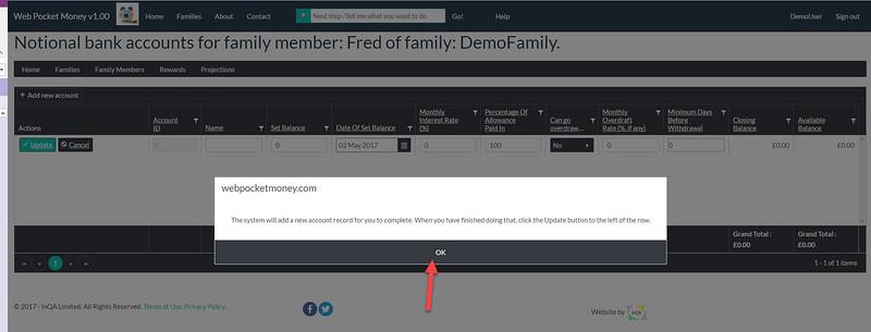 WebPocketMoney Family Members Next Step 3