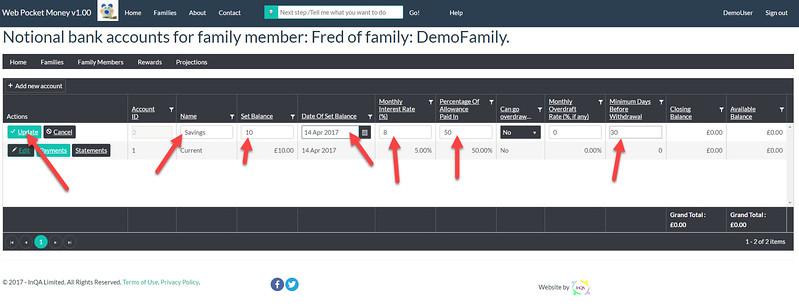 WebPocketMoney Adding 2nd Account for Child 2