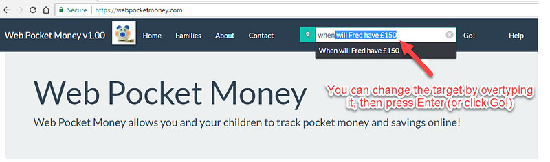 Web Pocket Money Changing The Target For Projections