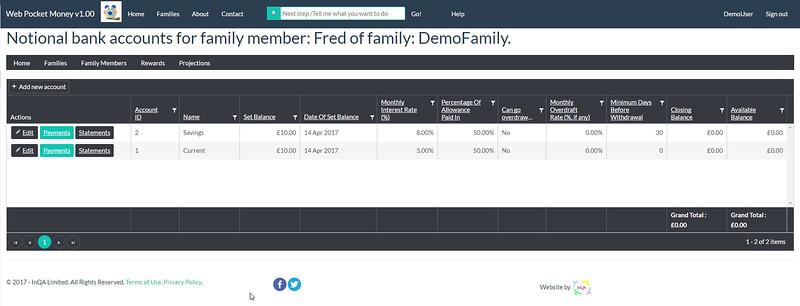 WebPocketMoney Adding 2nd Account for Child 3